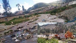 La foto refleja el estado en que se encuentra este río.