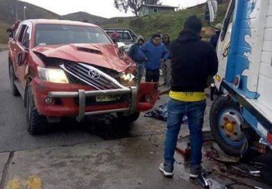 Conductor de camión fallece en choque en la vía Huamachuco – Trujillo