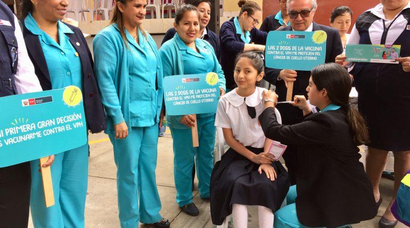 Lambayeque: Vacunarán a mas de 9 mil niñas con segunda dosis contra el VPH