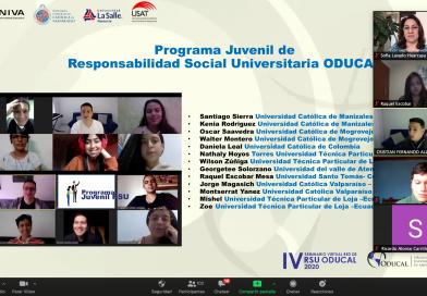 Lambayeque: Estudiantes de VOCCS USAT representaron al Perú en Programa Juvenil de la Red de Responsabilidad Social de la ODUCAL