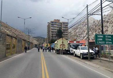 Junín: Carretera Central, en La Oroya, fue tomada por ex trabajadores de Doe Run